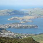 Otago Harbor from Mt Cargill, Dunedin