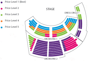 Boettcher Concert Hall Seating Chart