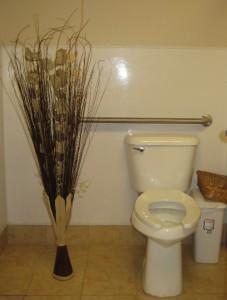 crowded restroom