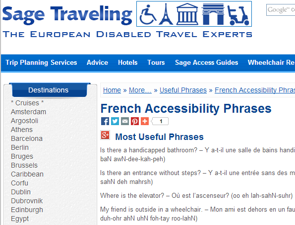 French Accessibility Phrases