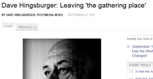 Dave Hingsburger: Leaving 'the gathering place'