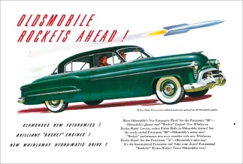 1947 advertisement for Hydra-Matic drive Oldsmobile