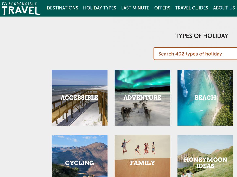 Responsible Travel screenshot