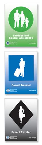 TSA lane symbols