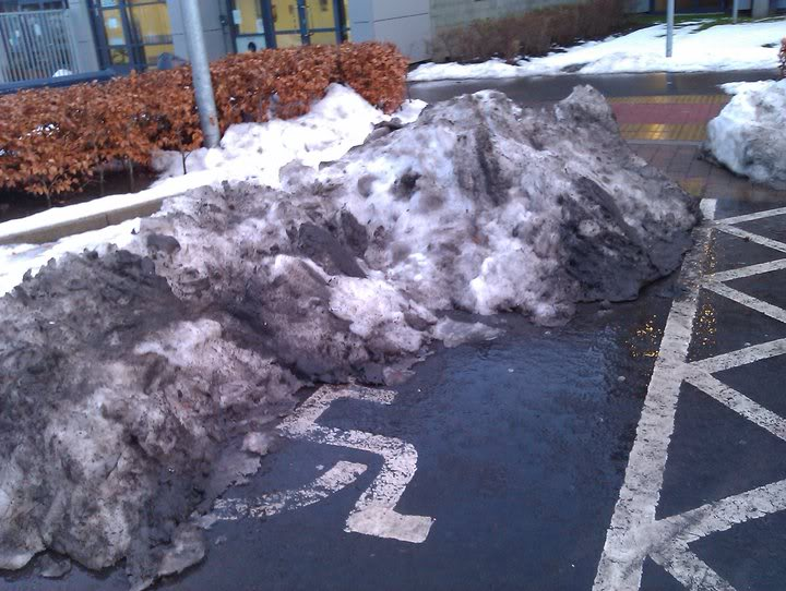 Parking Space with Snow